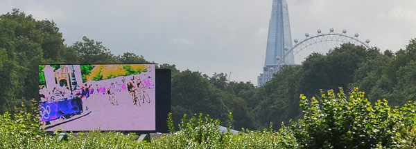 Giant LED Screen, Olympic Games, Women's Triathlon, Hyde Park