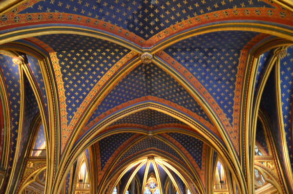 Ceiling, Lower Chapel, La Sainte-Chapelle, Paris, 2012