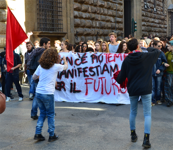 Demonstrators in Support of a Trade Union Strike, Florence
