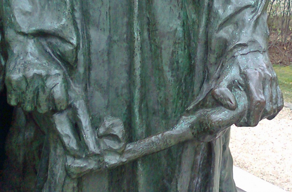 Detail of The Burghers of Calais, Musée Rodin, Paris, 2011