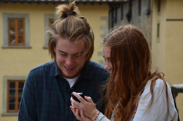 Jack McSweeney and Holly McSweeney, Piazza Grande, Arezzo, Tuscany