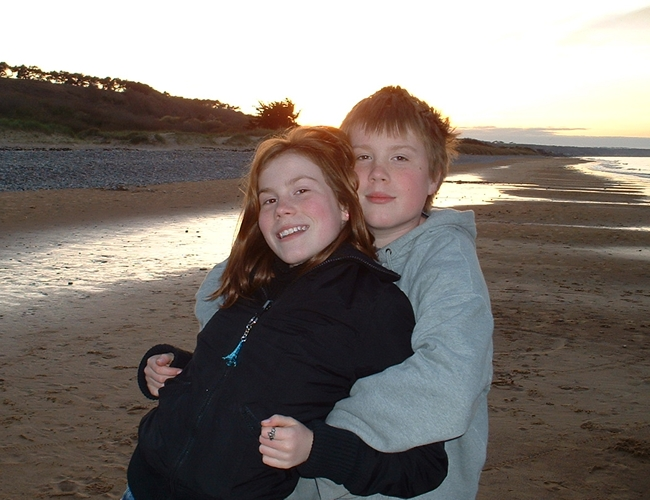 Jack and Holly McSweeney, Omaha Beach, Normandy