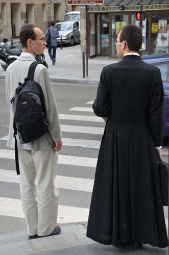 A Man and a Priest, Quai de la Tournelle, Paris, 2012