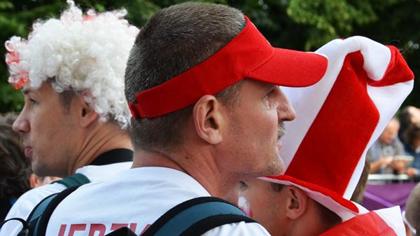 Polish Spectators, Olympic Games, Women's Triathlon, Hyde Park