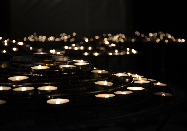 Votive Candles, Cathedral of Notre-Dame Cathedral de Paris, 2012