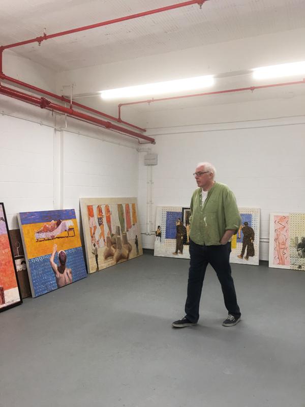Painter John McSweeney, Banbury Studios, London - 2019