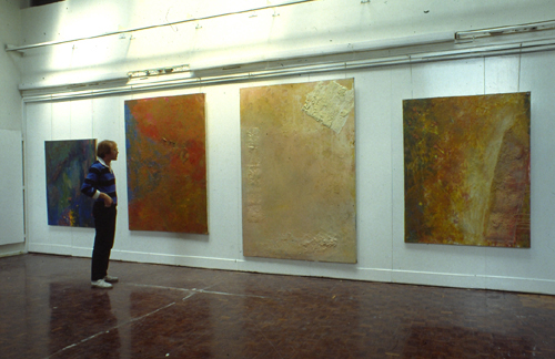 Installation of paintings by John McSweeney, Camberwell School of Art, 1983