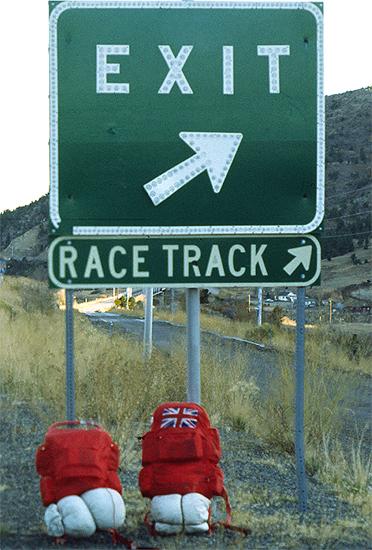 Back Packs, Interstate 25, Colorado