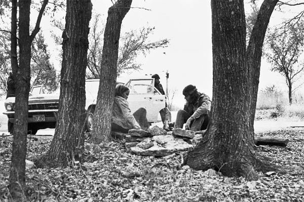 Rest Stop, Interstate 70, Kansas, November 1973