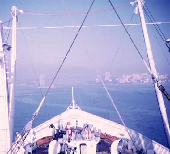 RHMS Ellinis in Sydney Harbour, late 1967