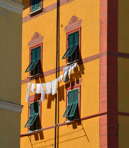 A house on Piazza Giuseppe Garibaldi, Lerici, Liguria