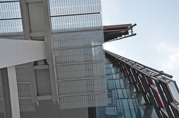 View from beneath the Shard, London