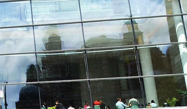 Reflection of Westminster Cathedral, Victoria